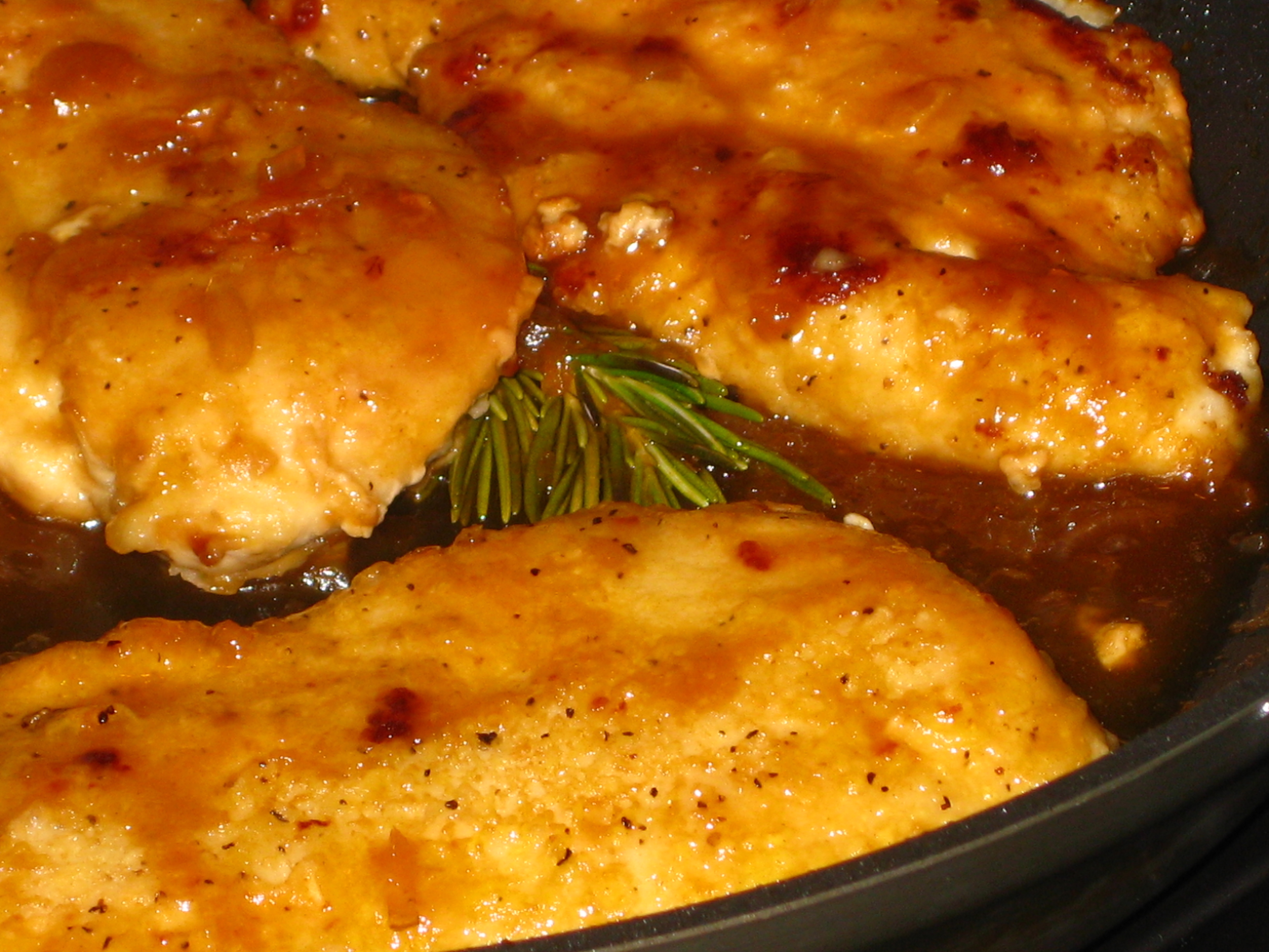 Chicken Breasts in Orange Sauce