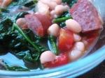 Kielbasa and white bean soup.