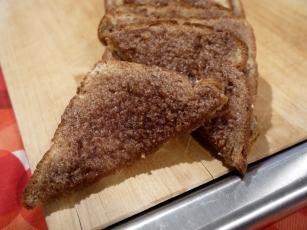 Buttery cinnamon toast.